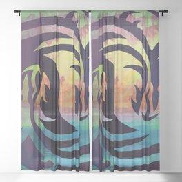 Dragons Sheer Curtain