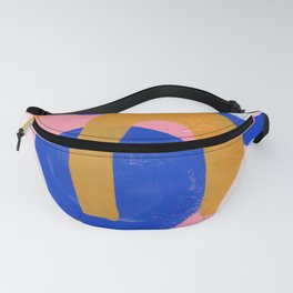 Ejaaz Haniff Colorful Abstract Acrylic Painting Pastel Fun Pastel Colors 'Pink Promenade' Fanny Pack