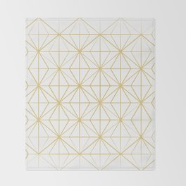 Geometric Golden Pattern Throw Blanket