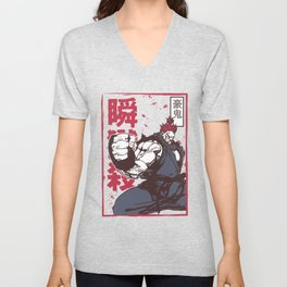 Akuma Gouki street fighter Unisex V-Neck