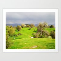 prespes.lakes.II.greece Art Print