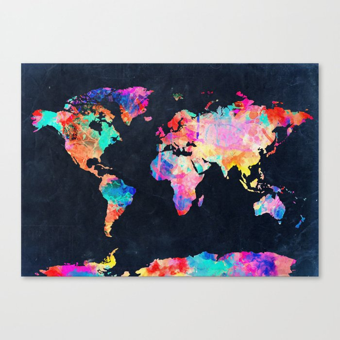 World map canvas print by bekimart society6 world map canvas print gumiabroncs Image collections