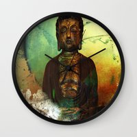 the 100 Wall Clocks featuring BUDDHA 100 by Digital-Art