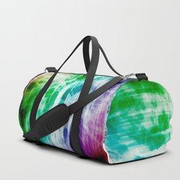 Retro, Boho Chic Tye-Dye Pattern Duffle Bag
