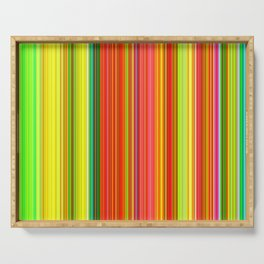 Rainbow Glowing Stripes Serving Tray