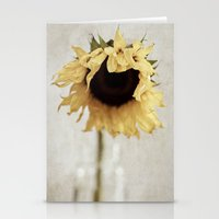 sunflower Stationery Cards featuring sunflower by Bonnie Jakobsen-Martin