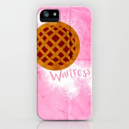 WAITRESS Minimal Musical design iPhone Case