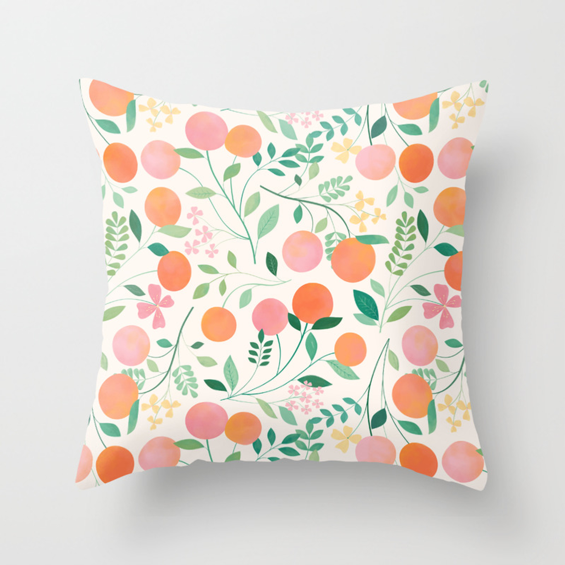 Vanilla Peaches Throw Pillow By Carlywatts Society6