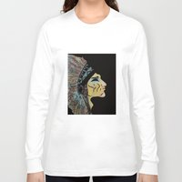 native american Long Sleeve T-shirts featuring Native by Red Dust