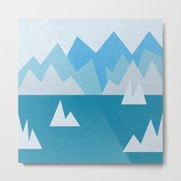 Icebergs in the Arctic Ocean Metal Print
