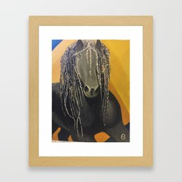 Yellow Horse Framed Art Print