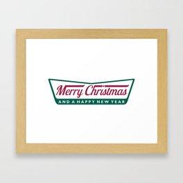 Have A Merry Krispy Christmas Framed Art Print