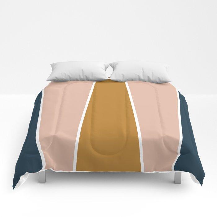 Retro Autumn Color Block Comforters