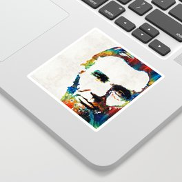 Abraham Lincoln Art - Colorful Abe - By Sharon Cummings Sticker