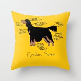 Gordon Setter Throw Pillow