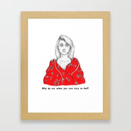 Stay In Bed Framed Art Print