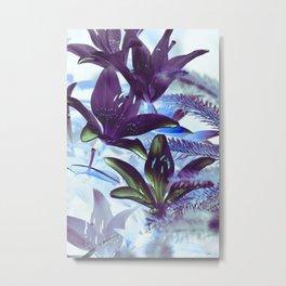 Moonlight Lillies Metal Print