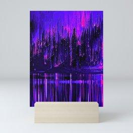 Trees Black Purple and Blue Skies Mini Art Print