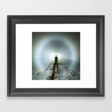 Shadow in Fog Framed Art Print