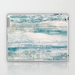 Sea Foam Blue Acrylic Textured Painting Laptop & iPad Skin