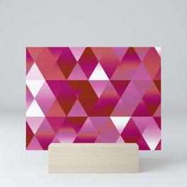 Lesbian Pride Alternating Gradient Triangle Pattern Mini Art Print