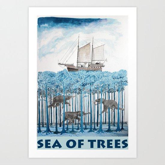 Sea of Trees Art Print