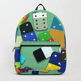 Domino Pattern Backpack