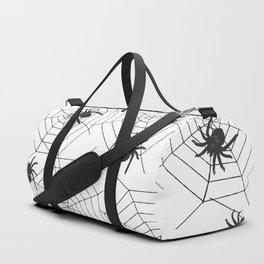 Black Spider Halloween web Duffle Bag