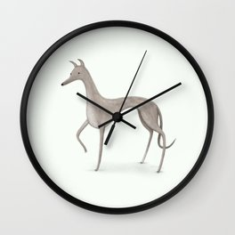 Whippet Portrait Wall Clock