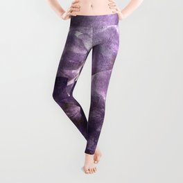 Purple Blossoming Leggings
