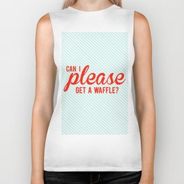 Can I Please Get a Waffle Biker Tank