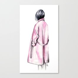 Pink coat Canvas Print