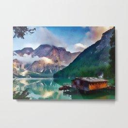 Morning Lake Metal Print