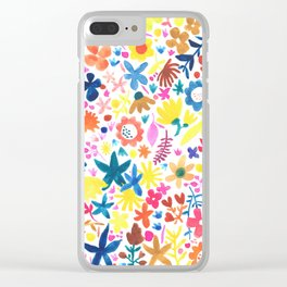 Autumm´s flowers Clear iPhone Case