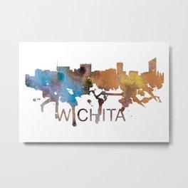 Wichita Art, Wichita Skyline, Wichita map, Wichita wall art, Wichita map print Metal Print