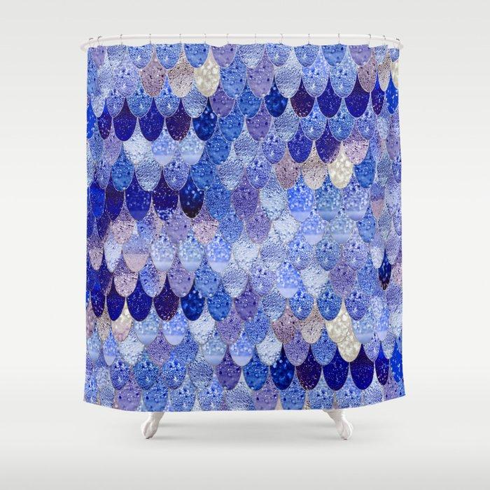 SUMMER MERMAID ROYAL BLUE Shower Curtain