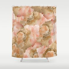 Gold in the clouds Shower Curtain