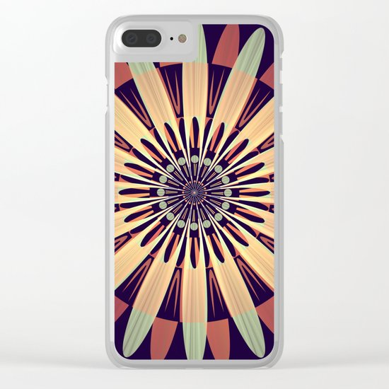 Graphic Floral Design Clear iPhone Case