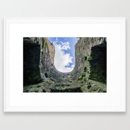 Castle Walls and Clouds Framed Art Print