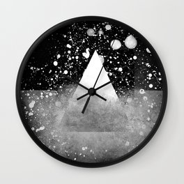 Triangle Composition IV Wall Clock