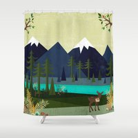 cartoons Shower Curtains featuring March by Kakel