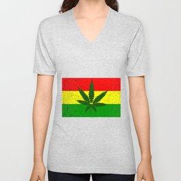 Rastafarian Flag Unisex V-Neck