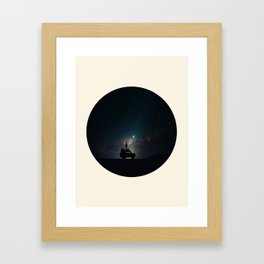 Staring Into The Milky Way Galaxy Over The Australian Outback Framed Art Print