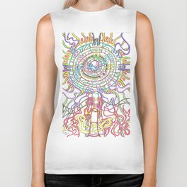 The Tree of Life in four Seasons Biker Tank
