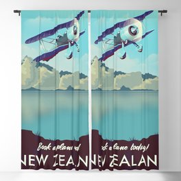 Book a Plane Today! New Zealand Blackout Curtain