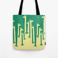 Tote Bags featuring Such A Great Height by Picomodi