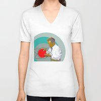 science V-neck T-shirts featuring Science by Renaissance Youth