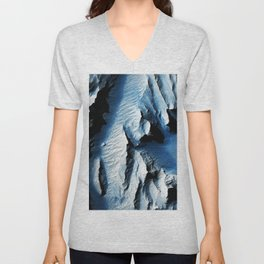 This observation from NASAs Mars Reconnaissance Orbiter is of an east-facing slope in Tithonium Chas Unisex V-Neck