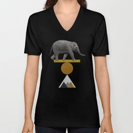 Tribal Elephant Unisex V-Neck