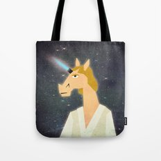 The horn is strong with this one. Tote Bag